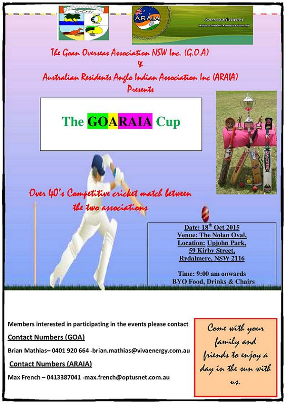 GOARAIA Cup-Oct'16 @ Check for updated flyer closer to the date