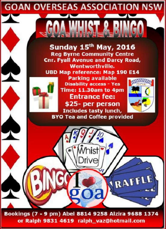 Whist Drive & Bingo @ Check for updated flyer closer to the date | Wentworthville | New South Wales | Australia